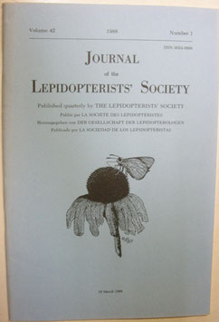 Journal of the Lepidopterist's  Society Vol.42 No.1