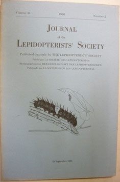 Journal of the Lepidopterist's  Society Vol.34 No.2