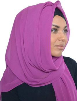 Hijab mousseline fushia