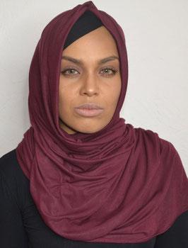 Hijab maxi jersey bordeaux