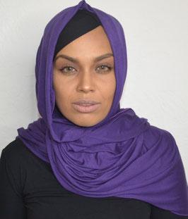 Hijab maxi jersey violet