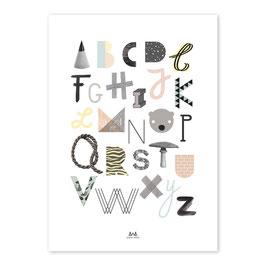 ABC  PRINT — 50x70cm