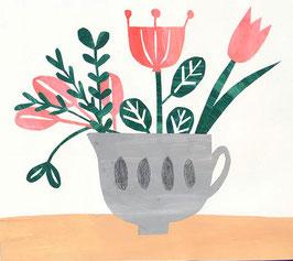 »Blumen in Tasse« - FRAUKNOPP