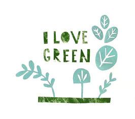 »I love Green« - FRAUKNOPP
