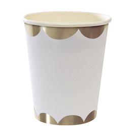 Pappbecher »weiß-gold« - Meri Meri