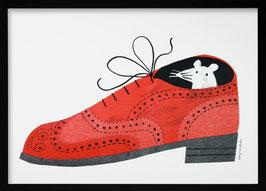 Maus im Schuh — Risoprint — A3