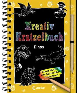 »Kreativ Kratzelbuch - Dinos« - Loewe