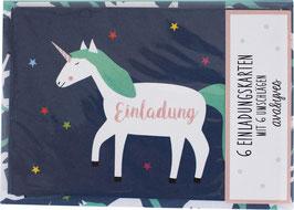 Einladungskarten - Set »Einhorn« — AVA & YVES