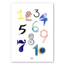 Numbers  PRINT — 50x70cm