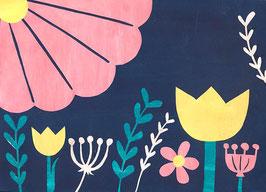 »Blumen auf Blau« - FRAUKNOPP