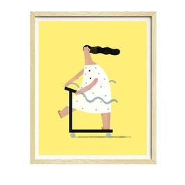 CrazyLegs — 30x40 cm — Susie Hammer