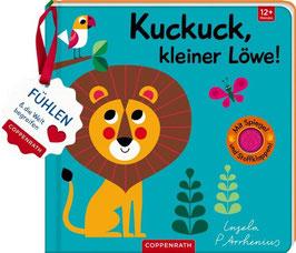 »Mein Filz-Fühlbuch: Kuckuck, kleiner Löwe!« - Coppenrath