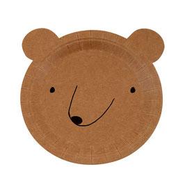 Pappteller »Bär« - Meri Meri