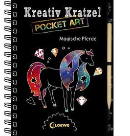 »Kreativ Kratzelbuch - Magische Pferde« - Loewe