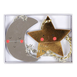 »Moon and Star Gift Tags«  —  Meri Meri