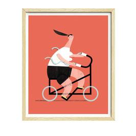 FashionCyclist — 30x40 cm — Susie Hammer
