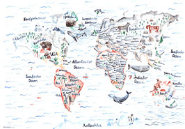 Weltkarte - Gretas Schwester
