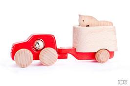 HOLZSPIELZEUG  »Auto mit Anhänger und Pferd« — BAJO