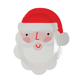 »Small Santa Head Plates«  —  Meri Meri