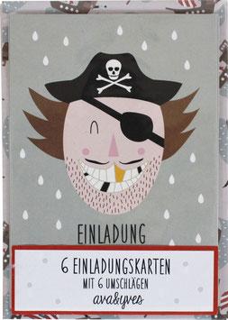 Einladungskarten - Set »Pirat« — AVA & YVES