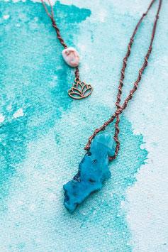 Halskette 'Blue Agate'