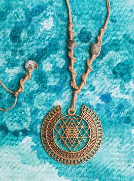 Halskette 'Geometric Sun'