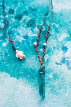 Halskette 'Aura Quartz-Ocean'