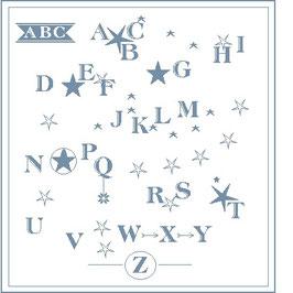 Abécédaire étoiles version bleue