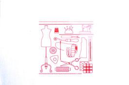 Coupon de tissu imprimé ref 8