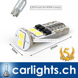 LED Standlicht W5W-T10 Swiss Made by carlights.ch CANBUS