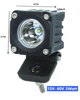 LED 5Watt Arbeitscheinwerfer 12V-40V CREE Spot