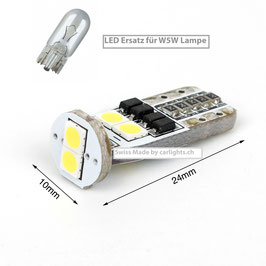ROVER LED Standlicht W5W-T10 Swiss Made CANBUS
