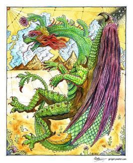 Cactus Dragon (Art Print)