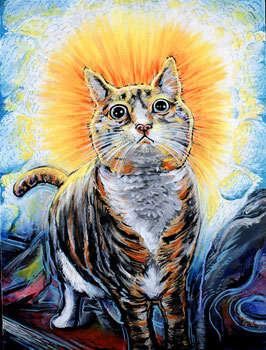 The Enlightened Cat Signed Print
