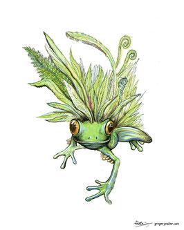 Leaf Frog (Art Print)