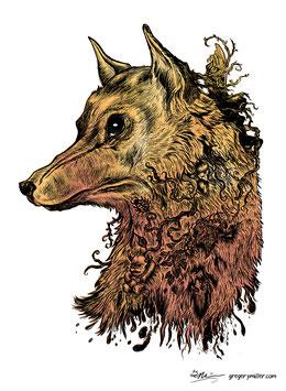 Golden Wolf (Art Print)