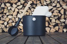 KOLO Kübel+Kelle schwarz 5 Liter