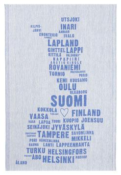 Küchentuch FINNLAND blau-weiß  46x70 cm