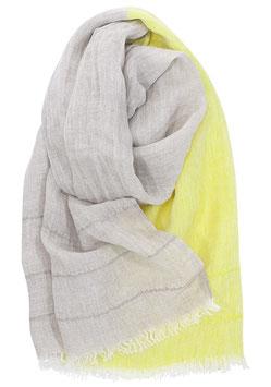 TSAVO Leinenschal gelb-leinen 70x200cm