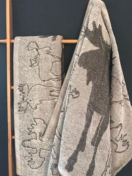 Handtuch Leinenfrottier Elchmotiv 75 x 150 cm