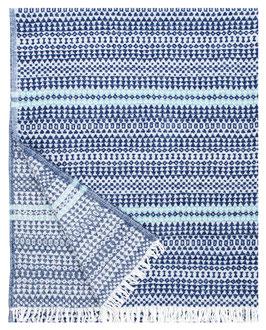 Leichte Wolldecke AINO blau-türkis 130x170cm