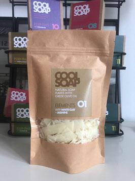 Cool Soap Seifenflocken No 01 Jasmin + weiße Tonerde 120g