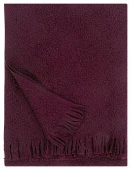 Wolldecke CORONA bordeaux 130x170cm