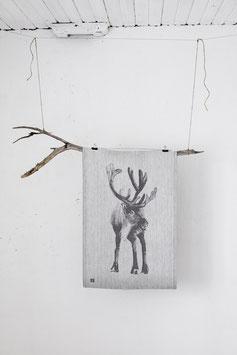 Küchentuch/Handtuch PORO schwarz-weiß  46x70 cm