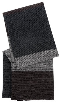 "Handtuch ""TERVA"" grau-braun-nachtblau, S/M/XL"