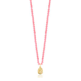 Hygeia Pink Coral Necklace