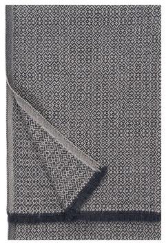 NEU: Wolldecke KOLI black-beige 170x135cm