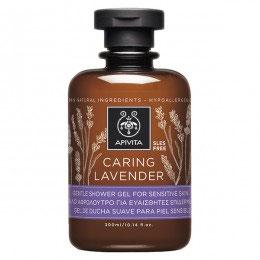 Apivita Showergel Caring Lavender 300 ml