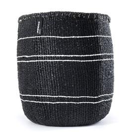 Korb KIONDO schwarz mit weißen Streifen M