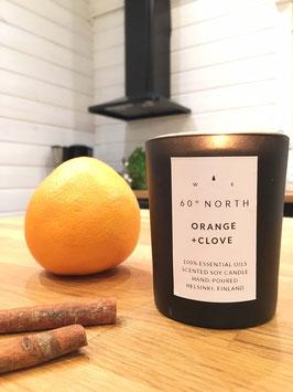 Sojawachs-Duftkerze 60° North Orange+Nelke